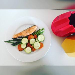 Grilled Salmon and Veg