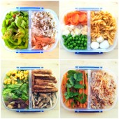 Lunch box balance meals