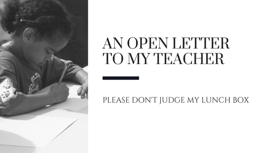 An open letter to my teacher